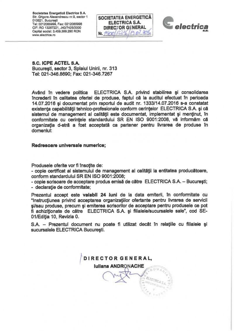 icpe-actel-certificate-Autorizatie partener livrare redresoare universale numerice