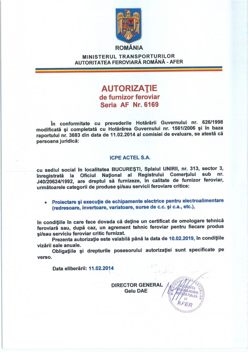 icpe-actel-certificate-Autorizatie furnizor feroviar