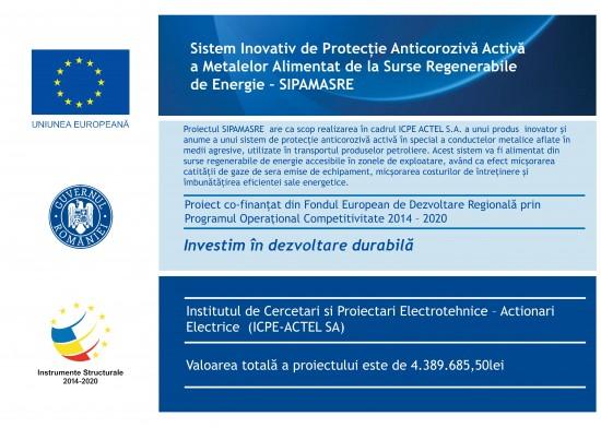 icpe-actel-cercetare--2020-2023-sistem-inovativ-de-protecie-anticoroziv-activ-a-metalelor-alimentat-de-la-surse-regenerabile-de-energie-sipamasre